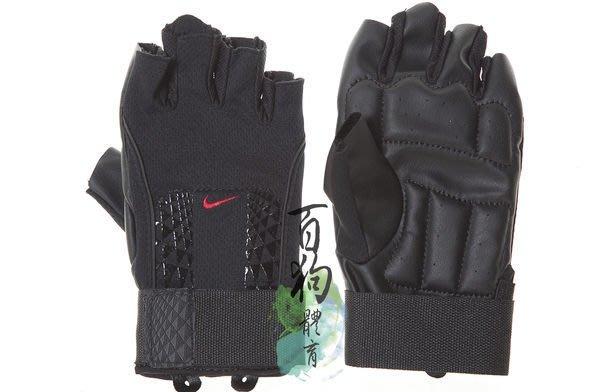 百狗體育 Nike Men's Alpha Structure Training Gloves 男用重量訓練手套 單車/健身/耐磨/防滑 黑/紅