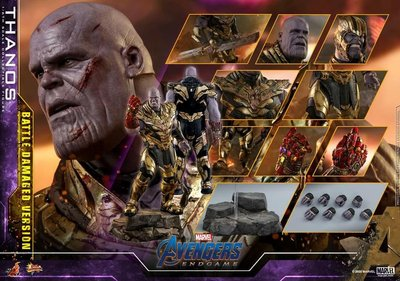 hot toys end game marvel avengers thanos 4.0 battle damage