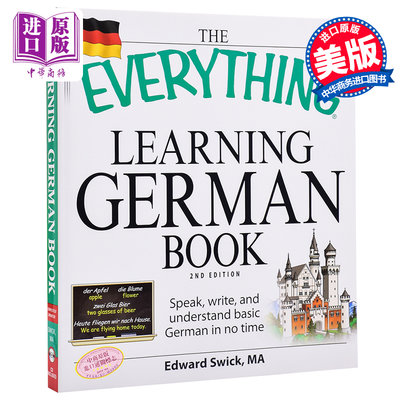 "德語學習書(第2版)英文原版 ""Everything"" Learning German Book Edward Swic"