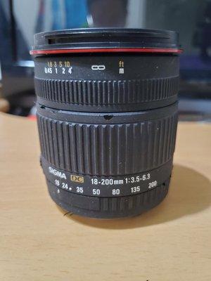 Sigma 18-200mm f3.5-6.3   for CANON 佳能 旅遊鏡 台北市