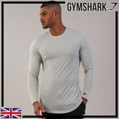 GYMSHARK PERFORATED LONGLINE LONG SLEEVE T-SHIRT 透氣長袖T恤-淡綠