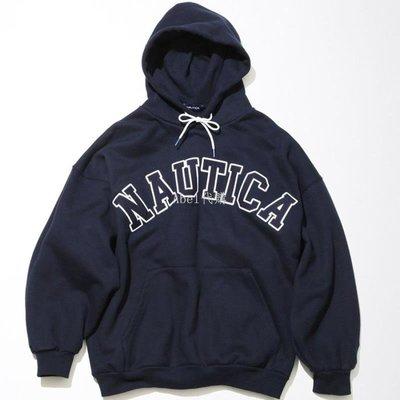 Abel代購 潮牌WCIB現貨Nautica 21SS lettered logo刺繡重磅材質衛衣帽衫套頭衫