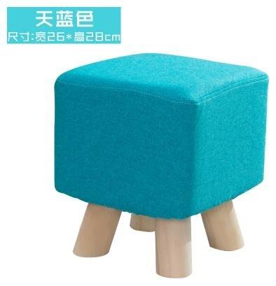 小木凳子家用布藝沙發凳成人矮板凳可愛墩子創意椅子單人換鞋腳凳