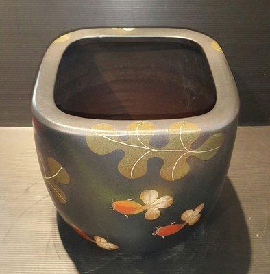 【星辰陶藝】(現貨) 高方盆,海草魚,水盆,花器,流水盆