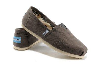 ☆╮A&T-TOMS╭☆正品TOMS專賣  帆布鞋Classics Canvas懶人情侶鞋經典款【男女款灰】現貨+預購 台中市