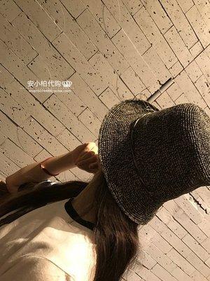 宏美飾品館~韓國東大門春夏防曬出游海邊度假沙灘帽手工編織遮陽花邊草帽