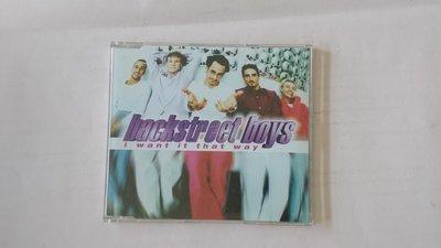 【鳳姐嚴選二手唱片 Backstreet Boys 新好男孩 / 單曲:i want it that way (EU版)