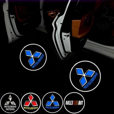 車門投影燈 汽車投影燈 車用迎賓燈適用三菱Ralliart Fortis Outlander Lancer