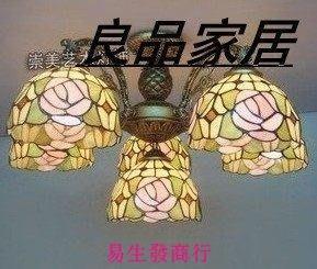 【易生發商行】蒂凡尼頂燈田園玫瑰客廳吸頂燈 歐式燈 餐廳頂燈臥室頂燈家居燈F6366