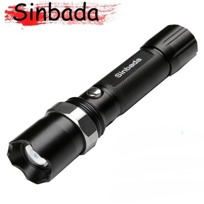 哆啦本鋪 超亮軍強光手電筒可充電燈氙氣手燈家用遠射王 D655