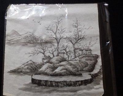 宇陞精品-字畫包裝袋Opp不乾膠自粘封口型-書畫袋/國畫書法作品收藏袋- 35cm*35cm-8開作品-25個