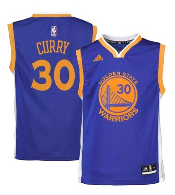 NBA官網Adidas正品 金州勇士隊 科瑞 Stephen Curry 30號 球衣背心 兒童青年版