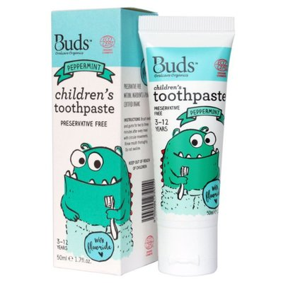 Buds -1-3 years Children's Toothpaste with Xylitol (Peppermint) 有機幼兒牙膏薄荷味 50ml