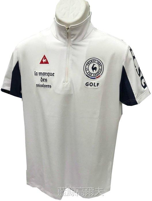 藍鯨高爾夫 le coq sportif 公雞 男短立領上衣(藍/白/二色)#QGJ23204