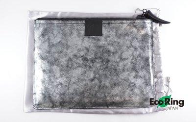 [Eco Ring]*Giuseppe Zanotti Clutch Bag/Silver+Black/Leather*RankA -207002479-