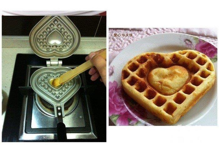 三季愛心型鬆餅模具鬆餅烤盤貓熊熊貓瓦斯或木炭明火使用BH033