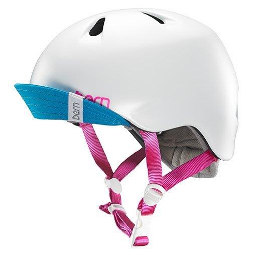 (Bern) 美國兒童自行車安全帽 bern helmet  白