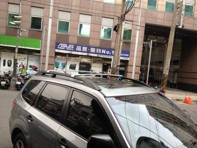 華峰 FORESTER 2009-2013車款專用 美規原廠型 鋁合金車頂架 行李架 橫桿 (黑.銀) $3,500