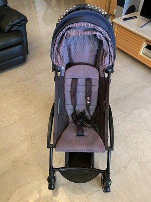 Babyzen yoyo 2代 黑管輕便推車兩套坐墊(法航藍+褐色)+加長遮陽前扶手等各式配件
