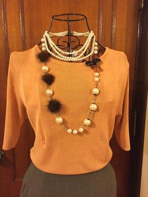 MAX MARA - 低調簡約設計橘色針織上衣 - 孫芸芸御用品牌