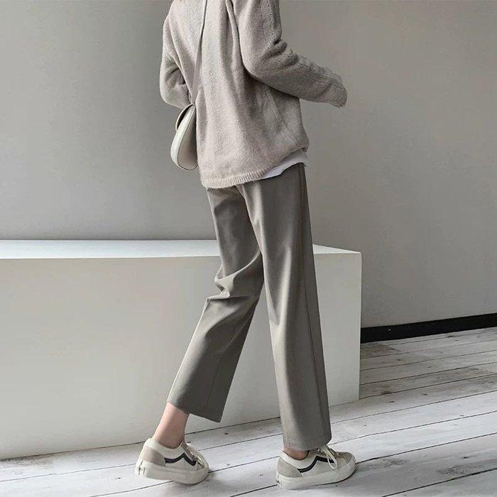 顯瘦顯腿長寬鬆垂感直筒休閒九分西裝褲長褲