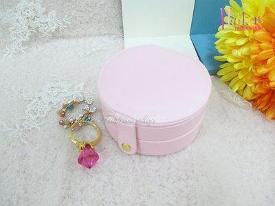 ☆[Hankaro]☆流行粉嫩隨身實用圓形多格飾品收納盒