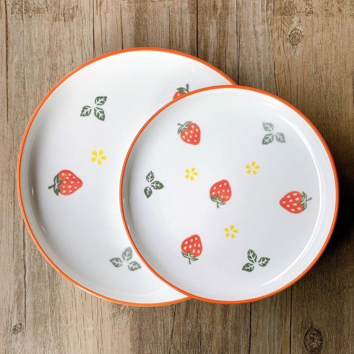 現貨/夏日繽紛草莓陶瓷餐盤 北歐風餐盤 餐具 簡約盤 草莓盤 甜點盤牛排盤 簡餐盤 居家 居家 可微波 可焗烤