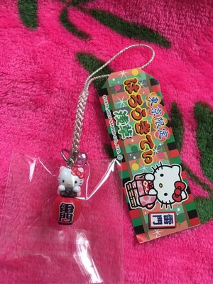 Sanrio Hello Kitty 日本地域限定 東京 淺草 電話繩 Mobile Cell Phone Strap Charm Mascot 383452