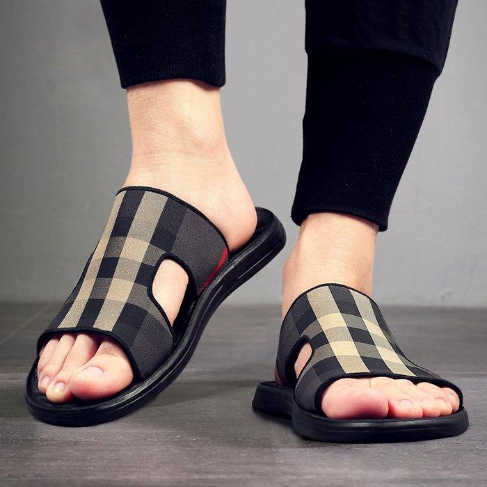 @生活家居城拖鞋新款夏季外穿潮流沙灘涼鞋韓版個性防滑室外網紅男士涼拖