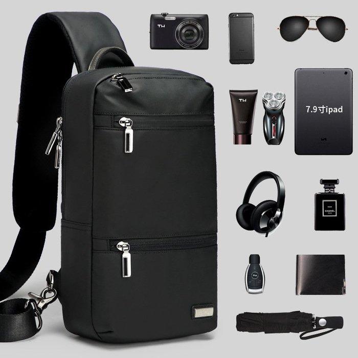【超優質】男士胸包大容量韓版個性時尚潮流旅遊休閒運動包單肩斜跨小背包休閒