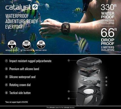 秒出現貨 發問9折 【CATALYST】FOR APPLE WATCH SERIES4 44mm 超輕薄防水 保護殼
