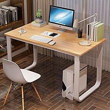 全館免運 電腦桌台式家用寫字桌簡約現代鋼木辦公桌雙--風行購物街