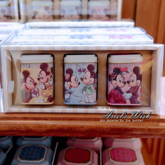 Ariel's Wish日本東京迪士尼限定米奇米妮婚禮小物探房禮伴娘禮Tiffany藍粉紅色黃色茶包珠寶盒三罐一組禮盒組