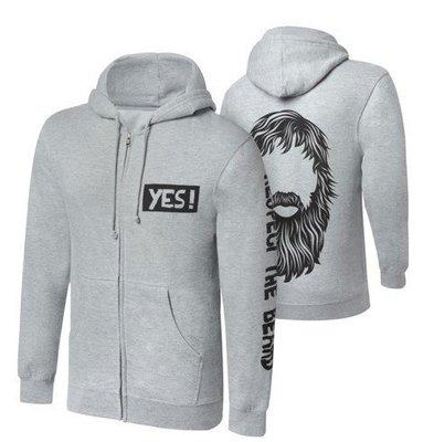 ☆阿Su倉庫☆WWE摔角 Daniel Bryan Respect The Beard Full-Zip Hoodie