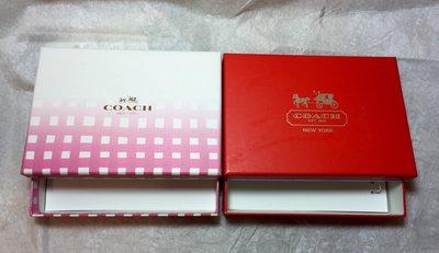 美國寄回 Coach 專櫃小紙盒 (尺寸:可裝15.2x10.5cm) ~ 高市可面交