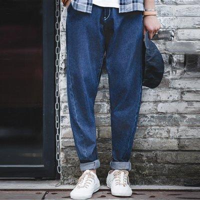 拓荒者革製所。美式復古丹寧彎刀牛仔褲阿美咔嘰水洗牛仔哈倫褲大口袋長褲男