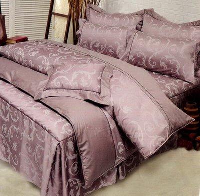 《Novaya 克緹儂》精品緹花系列 標準雙人 5*6.2 歐式七件床罩組 $3780 ~台灣製~ 【倈利寢飾窗簾】