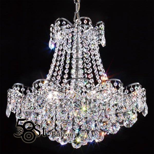 【58街】swarovski 施華洛世奇水晶珠「台灣製造高檔水晶吊燈飾」美術燈,複刻版。GH-464