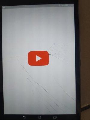 華碩黑色8吋平板(螢幕有裂痕)