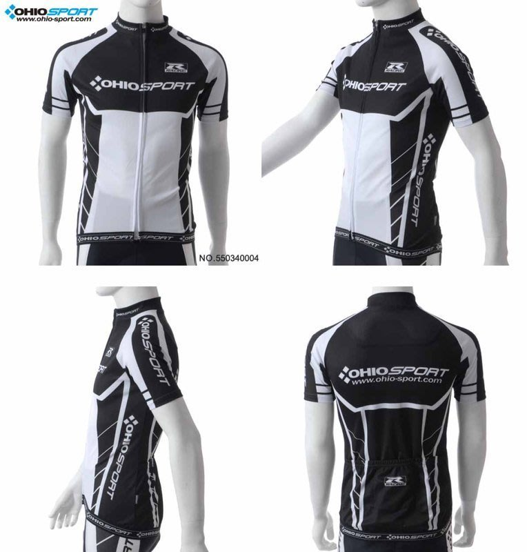 【速度公園】OHIOSPORT 黑甲競技型車衣 COOLMAX吸濕排汗布 S~XL