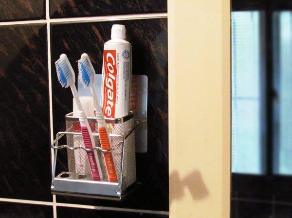 ☆成志金屬☆新世代*SA-1T不鏽鋼貼掛牙刷架基本款,頂級SUS304材料,革命性免鑽孔方式