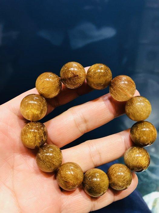 (( 上品堂))頂級銅鈦晶大手珠.收藏款~清透滿絲,磁場超強,重93克.只給第一標.
