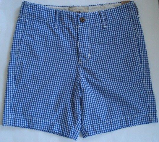 【天普小棧】HOLLISTER HCO 1000 steps beach shorts休閒格紋短褲28/33腰