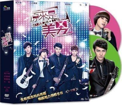 原來是美男-DVD全新正版-偶像劇--全13集4片裝-程予希、汪東城