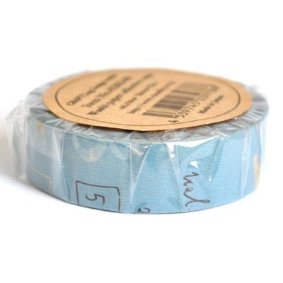 【R的雜貨舖】紙膠帶分裝 倉敷意匠和紙膠帶- 倉敷意匠 Graffiti B マスキングテープ 塗鴉(藍)