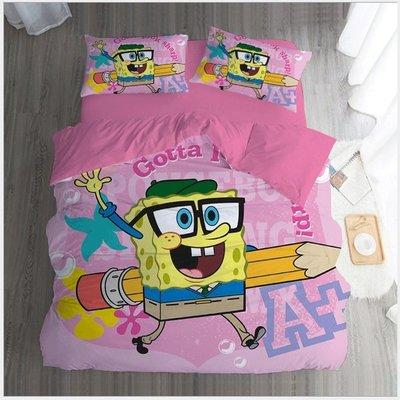 暖暖本舖 訂製床包 海綿寶寶 派大星 四件套 可貼自己喜愛的照片 紀念品 生日禮物 婚紗照 床單 床裙 床罩 客製床包