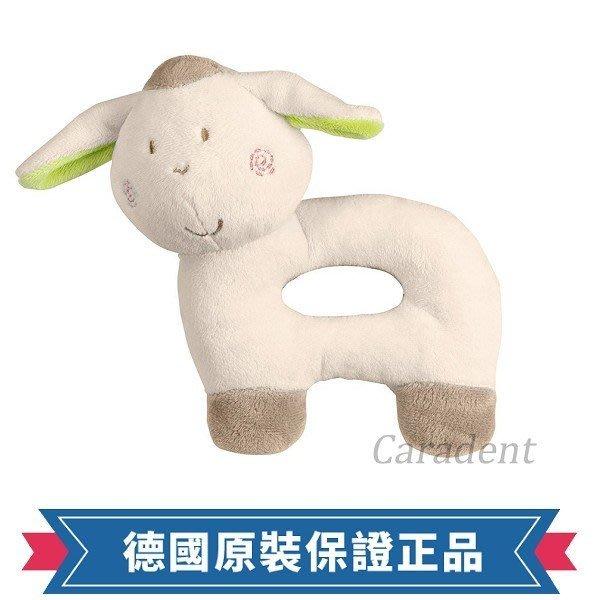 符合歐盟安全規範【卡樂登】 德國 Fashy 臉紅小綿羊柔軟絨毛手搖鈴 手抓球 嬰兒安撫陪睡玩具 新生兒送禮