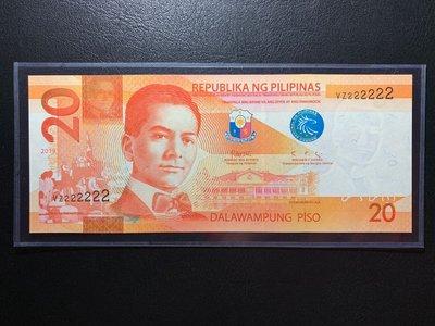 (((趣味大叔)))2019年菲律賓20披索222222趣味鈔稀有釋出!!