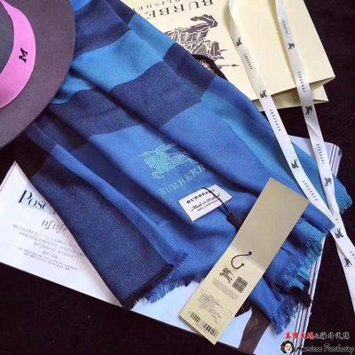 美國大媽代購 Burberry 巴寶莉 經典格紋 時尚品味保暖披肩 圍巾 美國outlet代購
