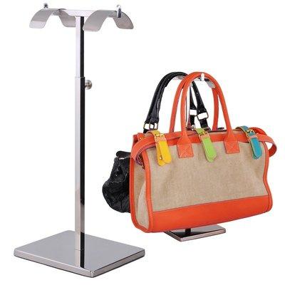 hello小店-廠家直銷不銹鋼高低掛包架 手袋包包展示 落地式包托展架#展示架#錢包展示架#貨物展示架#